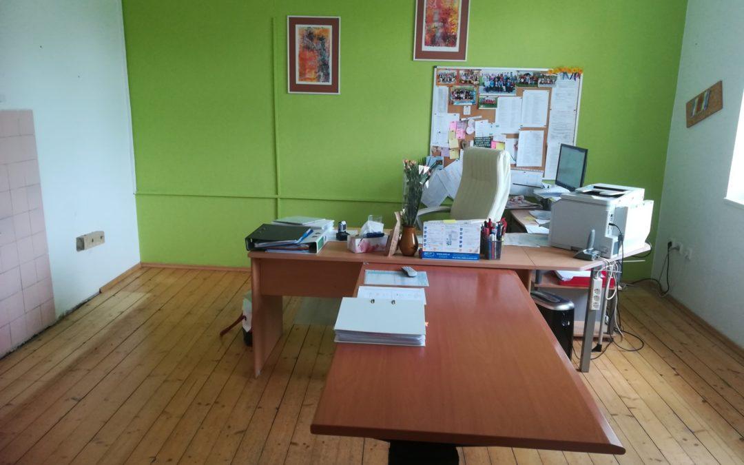 Renovace podlahy v ředitelně