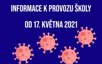 Informace k provozu školy od 17. KVĚTNA 2021