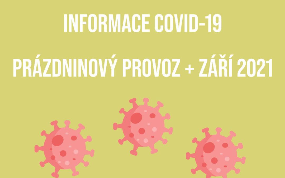 covid-19 prázdninový provoz + září 2021